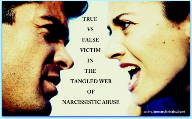 true vs false victim
