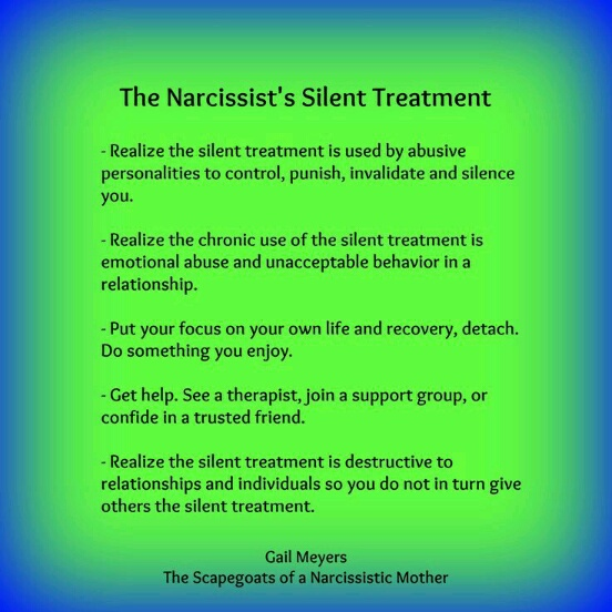The Narcissist's Silent Treatment | Blog of a Mad Black Woman