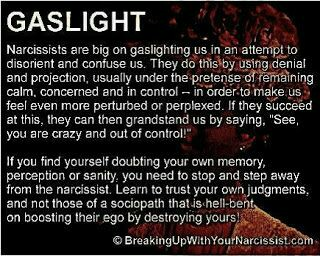 Narcissist gaslighting