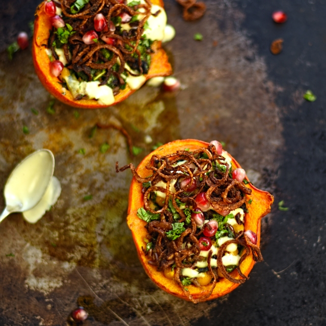 Persian stuffed onion squash
