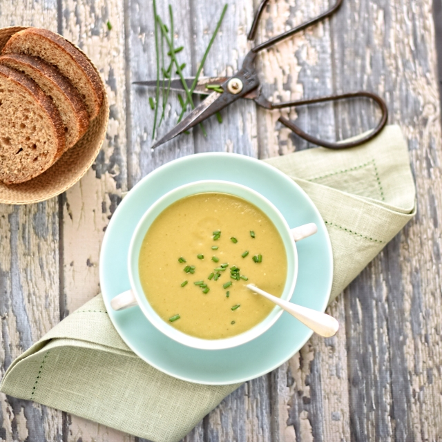 Broccoli, Courgette and Wasabi Soup
